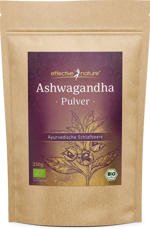 Tüte mit Ashwagandha-Pulver